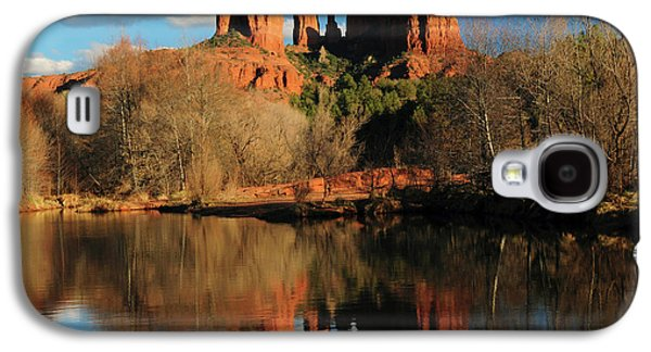 Cathedral Rock Reflections At Sunset Galaxy S4 Case by Michel Hersen