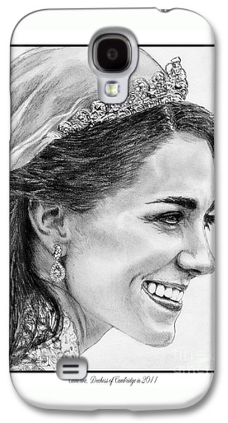 Catherine - Duchess Of Cambridge In 2011 Galaxy S4 Case by J McCombie