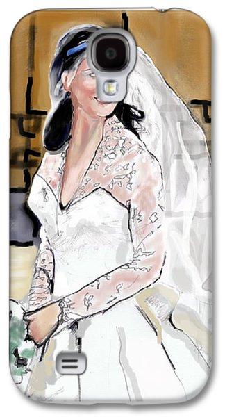 Catherine Duchess Of Cambridge Print  Galaxy S4 Case by Eric  Schiabor