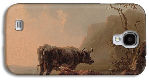 Cattle In An Italianate Landscape Galaxy S4 Case by Jacob van Strij