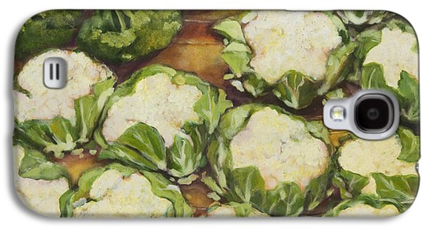 Broccoli Galaxy S4 Case - Cauliflower March by Jen Norton