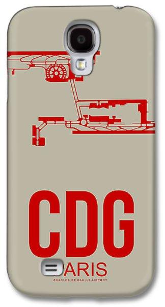 Cdg Paris Airport Poster 2 Galaxy S4 Case by Naxart Studio