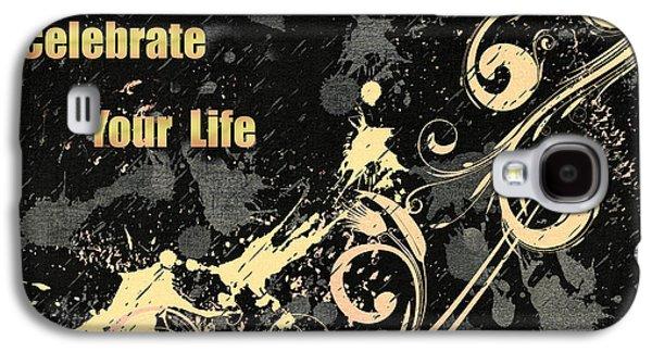 Celebrate Your Life Modern Art Light Galaxy S4 Case by Georgiana Romanovna