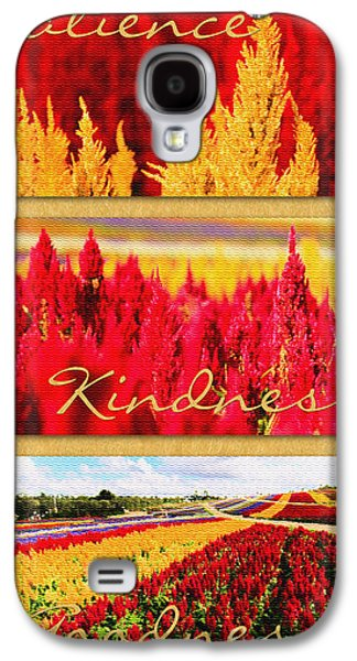 Celosia With Patience Kindness Goodness Galaxy S4 Case by Beverly Claire Kaiya