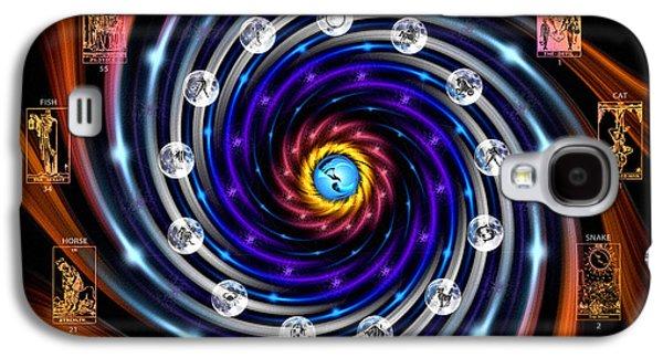 Celtic Tarot Moon Cycle Zodiac Galaxy S4 Case