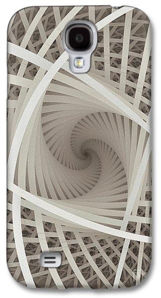 Centered White Spiral-fractal Art Galaxy S4 Case