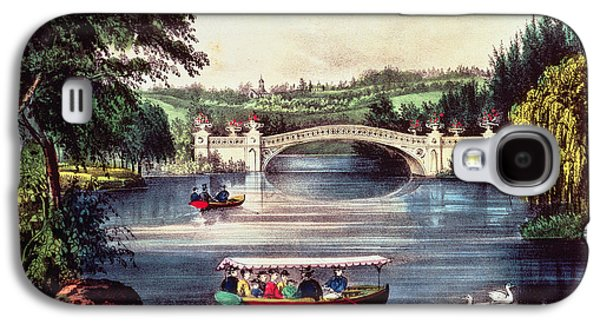 Central Park   The Bridge  Galaxy S4 Case by Currier and Ives