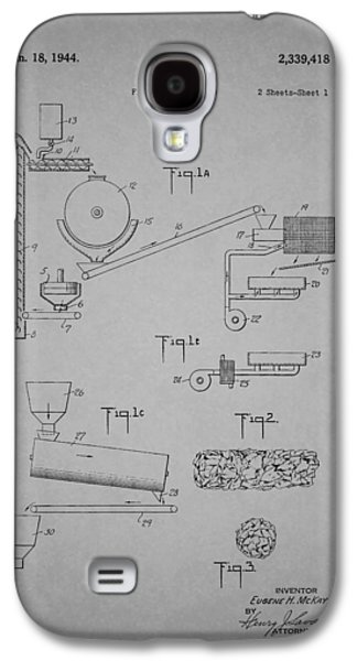 Cereal Food Machine Patent 1944 Galaxy S4 Case by Mountain Dreams