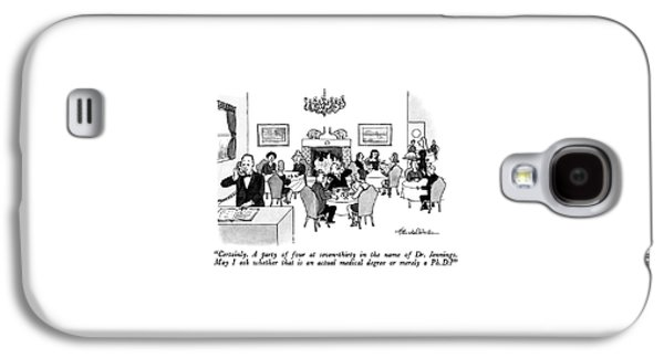 Certainly.  A Party Of Four At Seven-thirty Galaxy S4 Case