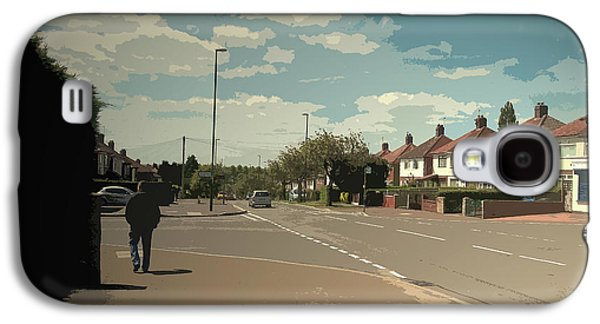 Chaddesden Park Road In Derby, Suburban Scene Pictured Here Galaxy S4 Case by Litz Collection