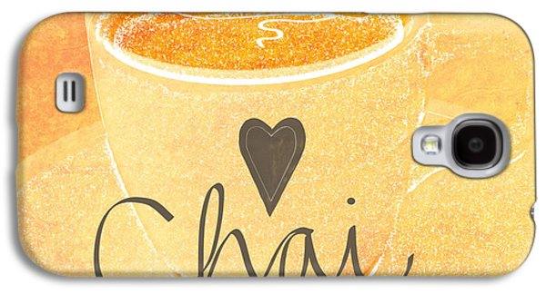 Peach Galaxy S4 Case - Chai Latte Love by Linda Woods