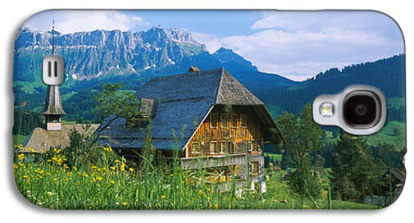 Chalet And A Church On A Landscape Galaxy S4 Case by Panoramic Images