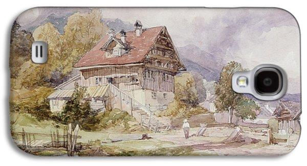 Chalet, Brunnen, Lake Lucerne Galaxy S4 Case