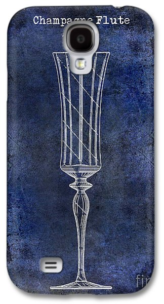 Champagne Flute Patent Drawing Blue 2 Galaxy S4 Case