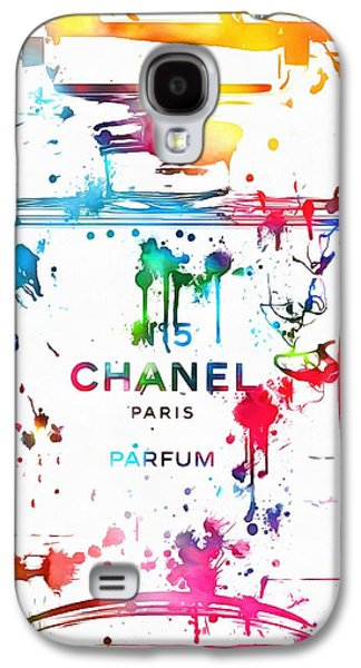 Chanel Number Five Paint Splatter Galaxy S4 Case