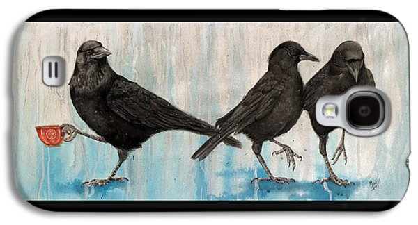 Crow Takes Tea Galaxy S4 Case by Marie Stone Van Vuuren
