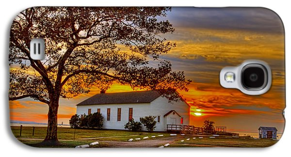 Chapel At Fort Hancock Sandy Hook Nj In Sunset Galaxy S4 Case by Geraldine Scull