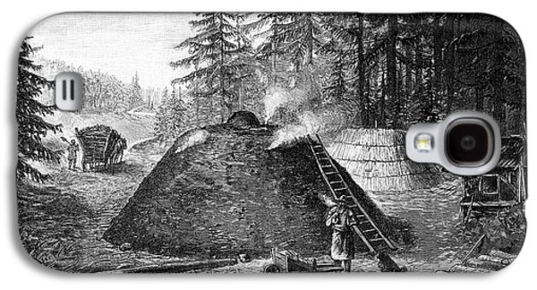 Charcoal Production, 19th Century Galaxy S4 Case