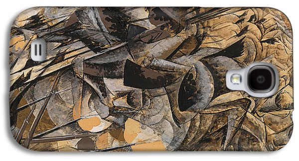 Charge Lancers Galaxy S4 Case by Umberto Boccioni