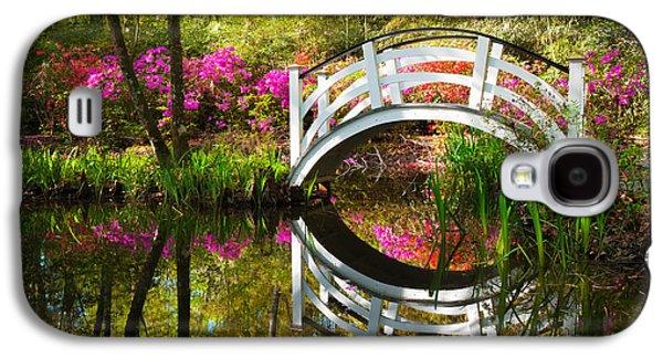 Green Foliage Galaxy S4 Cases - Charleston SC Magnolia Plantation Spring Blooming Azalea Flowers Garden Galaxy S4 Case by Dave Allen
