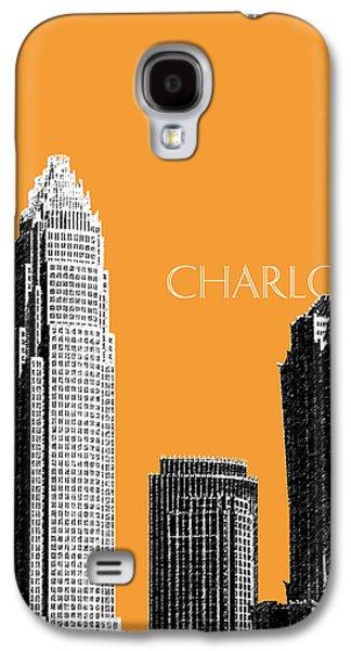 Charlotte Skyline 2 - Orange Galaxy S4 Case by DB Artist