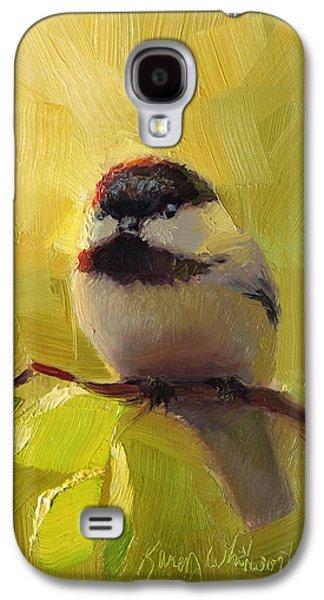 Chatty Chickadee - Cheeky Bird Galaxy S4 Case