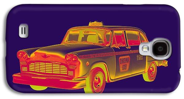 Checkered Taxi Cab Pop Art Galaxy S4 Case
