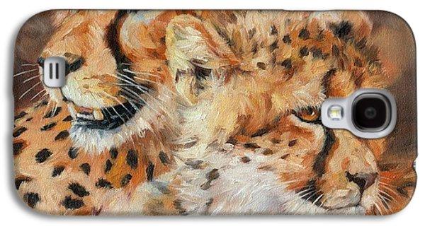 Cheetah And Cub Galaxy S4 Case