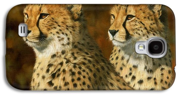 Cheetah Brothers Galaxy S4 Case by David Stribbling