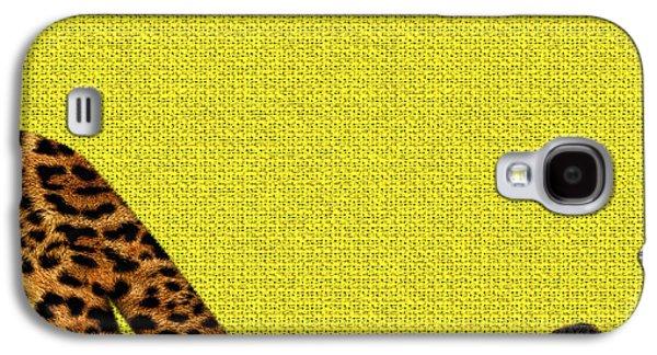 Cheetah Furry Bottom On Yellow Galaxy S4 Case