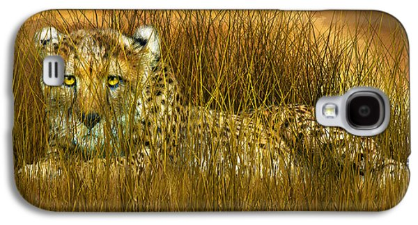 Cheetah - In The Wild Grass Galaxy S4 Case
