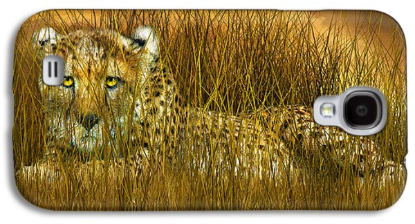 Cheetah - In The Wild Grass Galaxy S4 Case by Carol Cavalaris