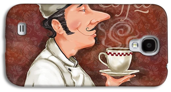 Chef Smell The Coffee Galaxy S4 Case by Shari Warren