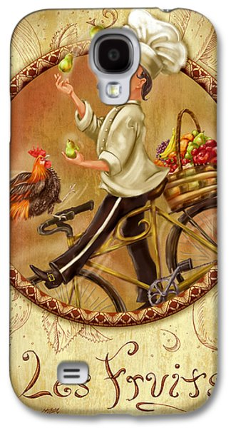 Chefs On Bikes-les Fruits Galaxy S4 Case