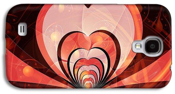 Cherries And Hearts Galaxy S4 Case by Anastasiya Malakhova