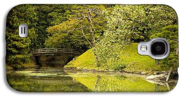 Cherry Blossom Japanese Garden Galaxy S4 Case by Sebastian Musial