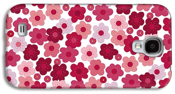 Cherry Blossom Pop Galaxy S4 Case by Sharon Turner