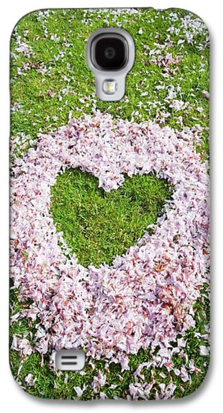 Cherry Blossom Shaped As A Heart Galaxy S4 Case