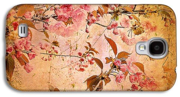 Cherry Blossom Tapestry Galaxy S4 Case by Jessica Jenney