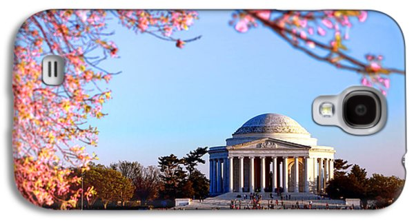 Jefferson Memorial Galaxy S4 Case - Cherry Jefferson by Olivier Le Queinec