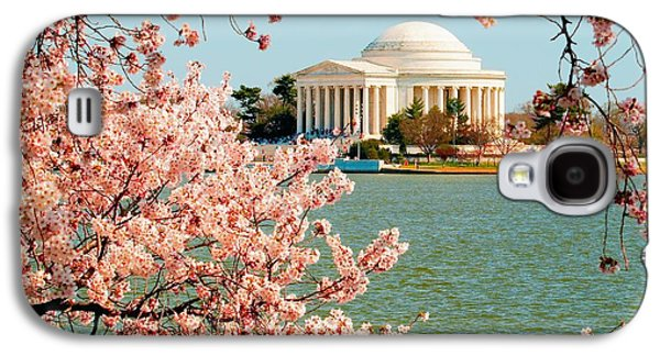 Jefferson Memorial Galaxy S4 Case - Cherry Trees At The Jefferson by Nick Zelinsky