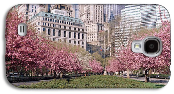 Cherry Trees, Battery Park, Nyc, New Galaxy S4 Case by Panoramic Images