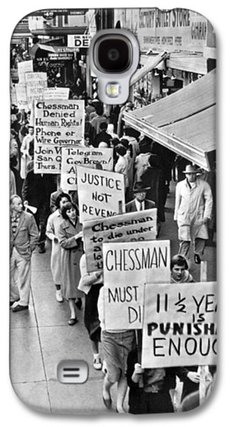 Chessman Execution Protesters Galaxy S4 Case by Underwood Archives