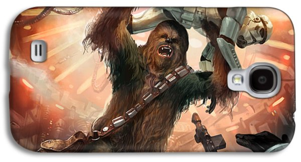 Chewbacca - Star Wars The Card Game Galaxy S4 Case by Ryan Barger