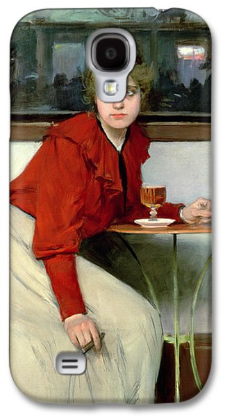 Chica In A Bar Galaxy S4 Case by Ramon Casas i Carbo