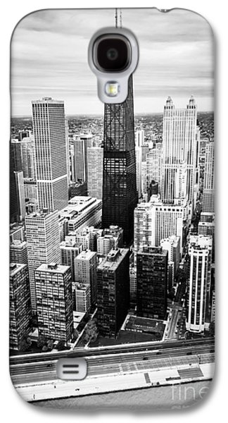Chicago Aerial With Hancock Building In Black And White Galaxy S4 Case by Paul Velgos