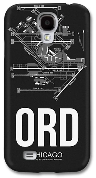 Chicago Airport Poster Galaxy S4 Case by Naxart Studio