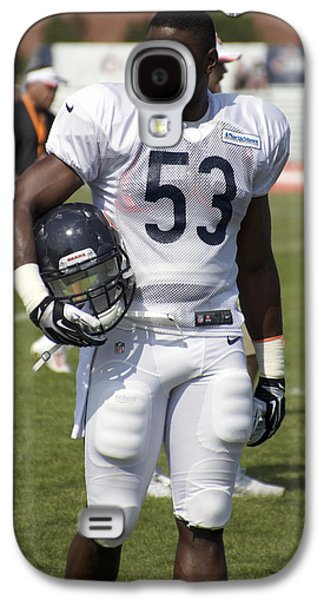 Chicago Bears Lb Jerry Franklin Training Camp 2014 01 Galaxy S4 Case by Thomas Woolworth