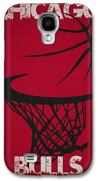 Chicago Bulls Hoop Galaxy S4 Case by Joe Hamilton