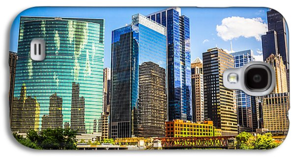 Chicago City Skyline Galaxy S4 Case by Paul Velgos